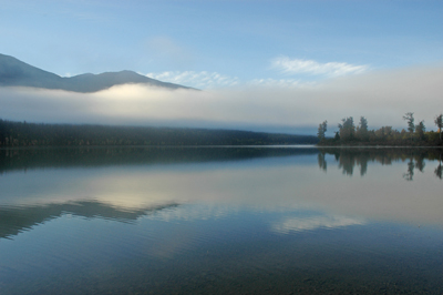 Early Morning Fog At Cariboo Lake