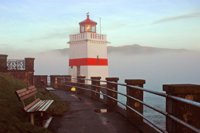 Stanley Park Lighthouse In Vancouver