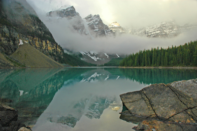 Loraine Lake In The Valley Of Ten Peaks