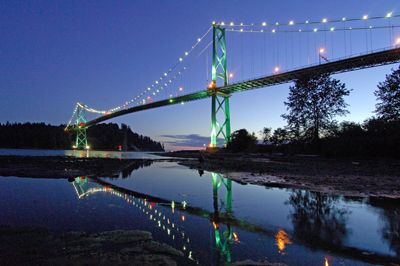 Lions Gate Bridge In Twilight